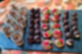 Assortiments de desserts...crumble poire sureau, rocher coco choco et tartelettes de saison !