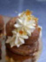 Sant honoré à la crème Chiboust et patate douce