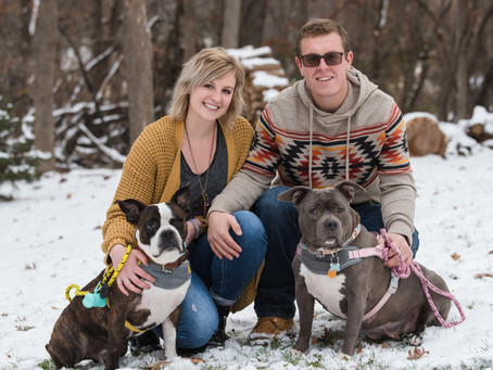 Porter & Petunia (and their 'rents)!