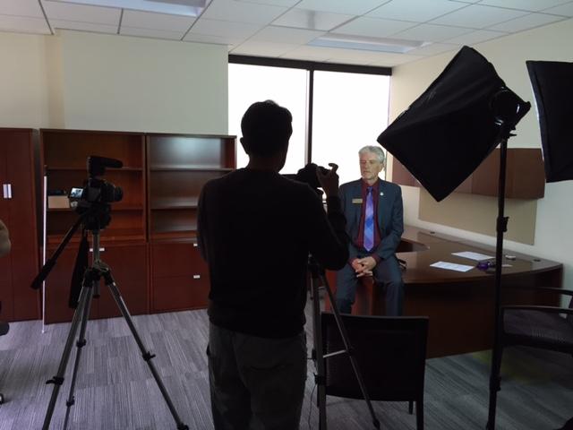 Wayne Heidle being Filmed