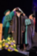 Wayne Heidle being hooded