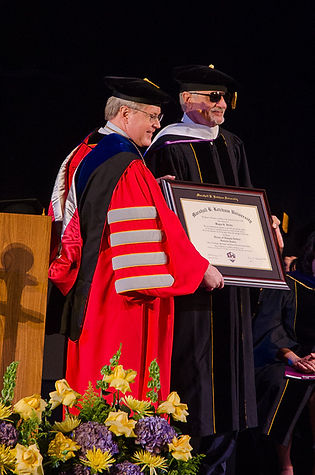 Wayne DoctorateHeidle receivng a Doctorate