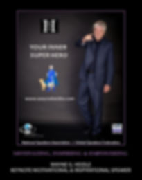 "Wayne Heidle ""Your Inner Super Hero"" poster"