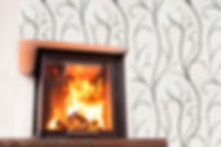 Fireplace Decoration with Etched Marble Tile