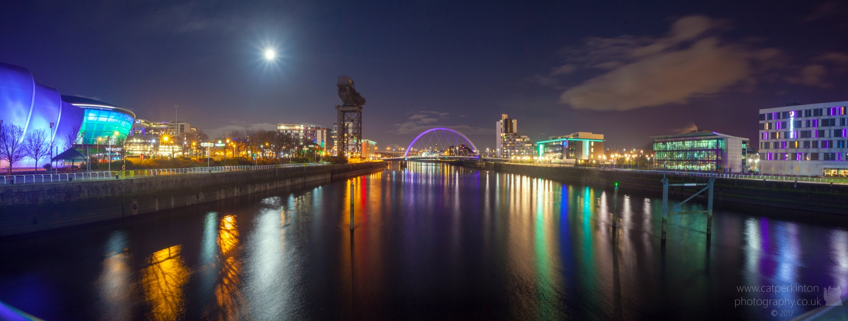 Glasgow Night Panorama
