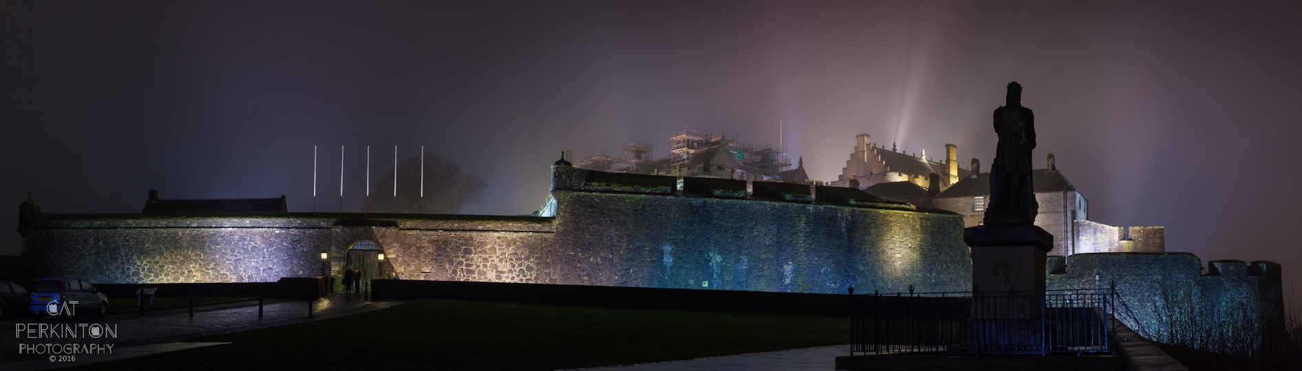 Stirling Castle Night Panorama