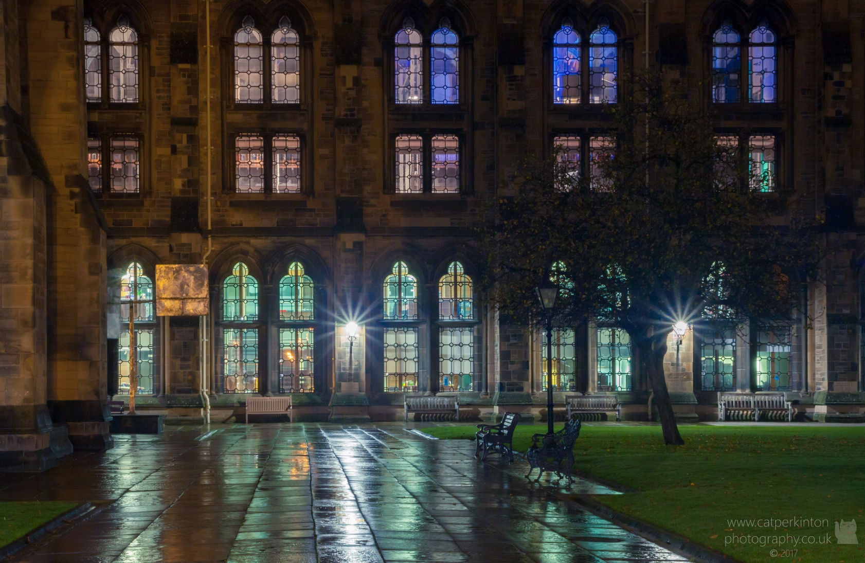 Learned lights - Glasgow Uni
