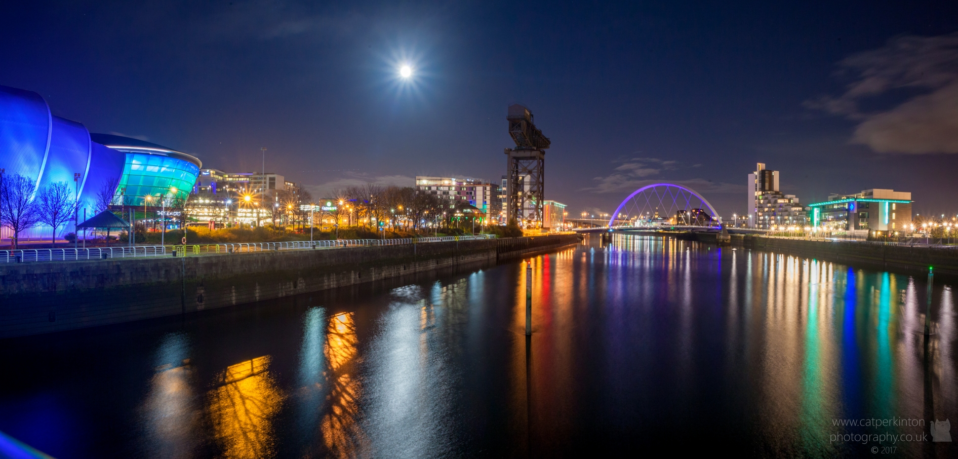 Glasgow Night Panorama2