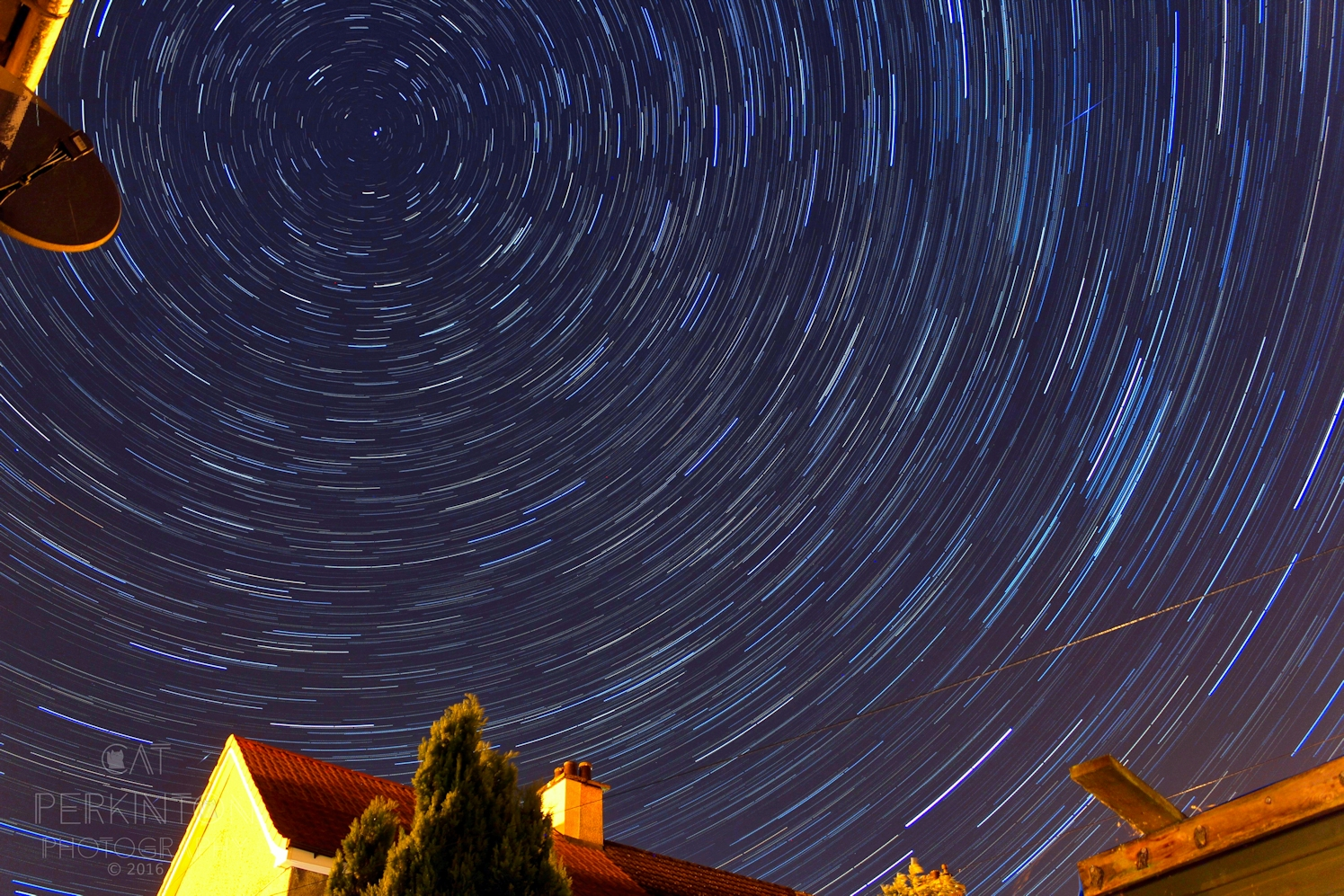Suburban star trail