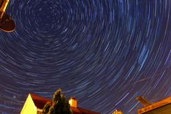 Suburban star trail