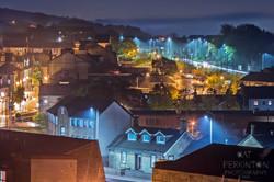 Foggy Town Night