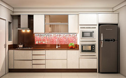 Cozinha com Torre e Vidro Reflecta