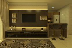 Sala de TV com Painel e LED