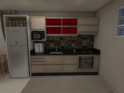 Cozinha - Vidro Vermelho