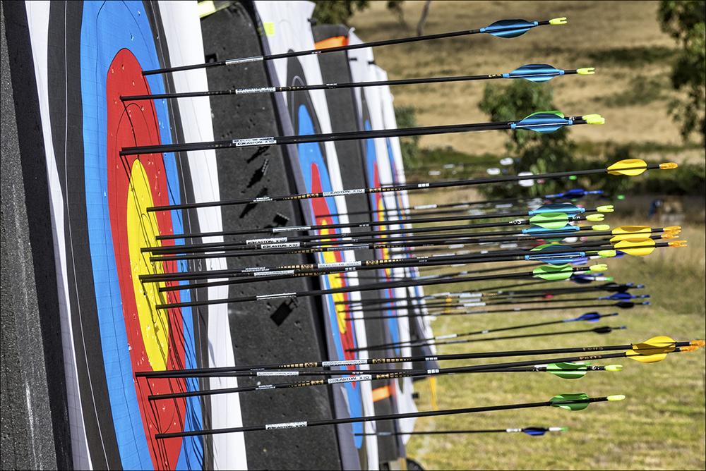 Colourful archery