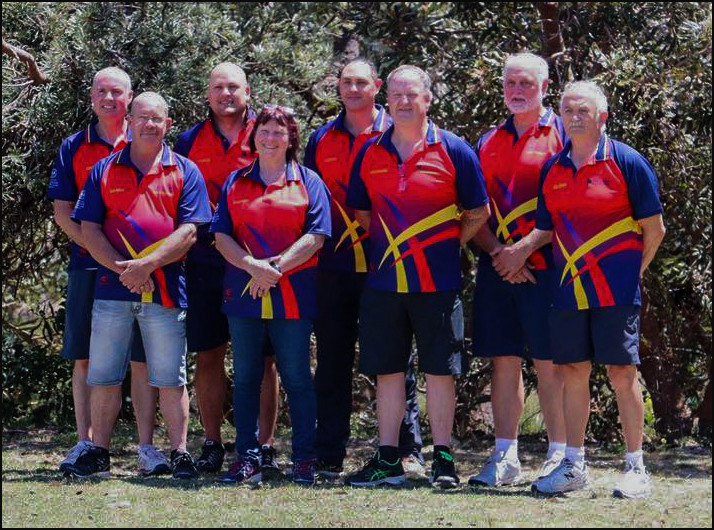 South Australian team members at the National Archery Championships