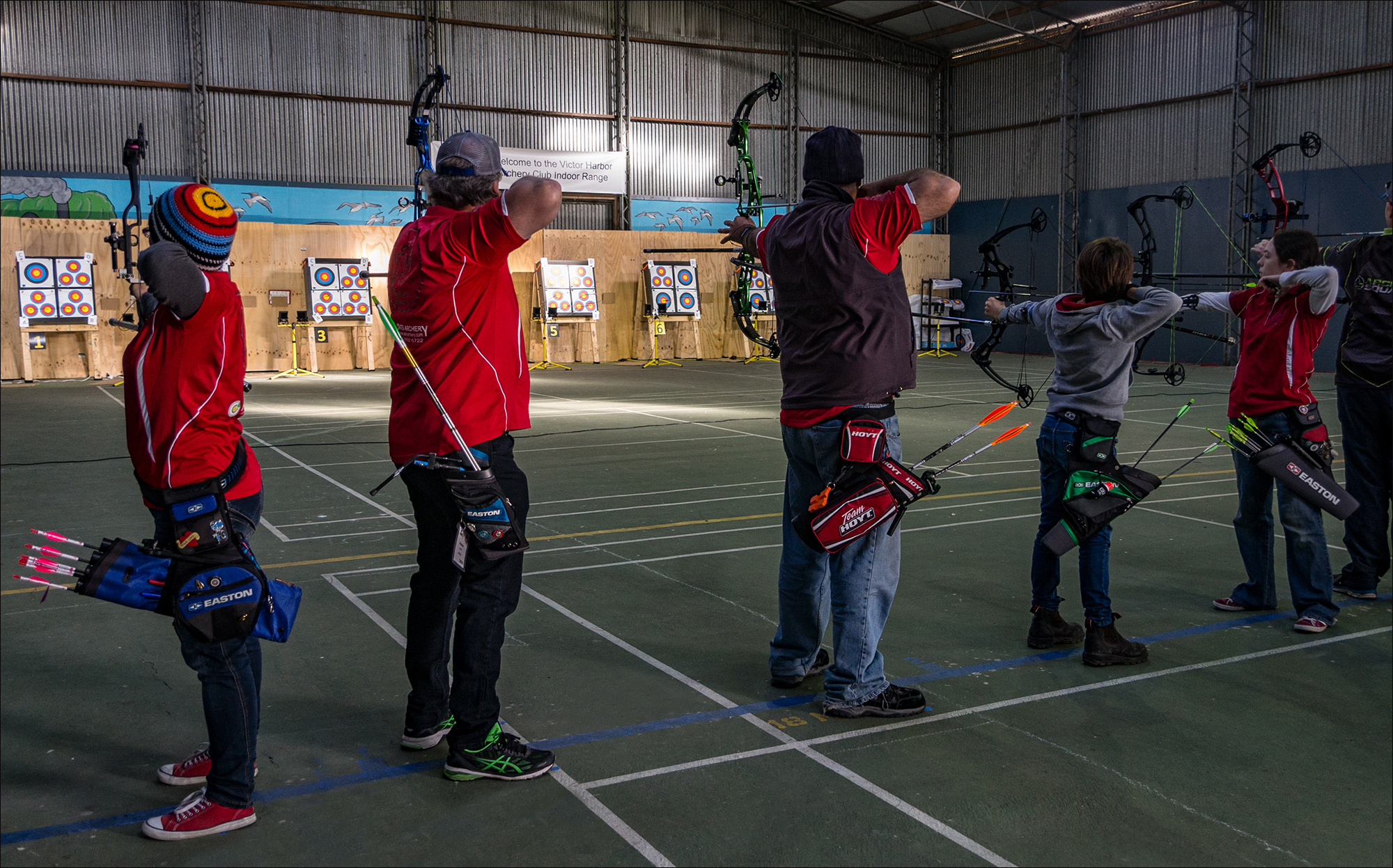 VHAC competing archers