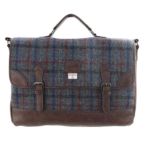 Finsbay Harris Tweed PU Briefcase