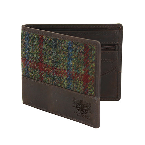 Breanais Harris Tweed Wallet Front View