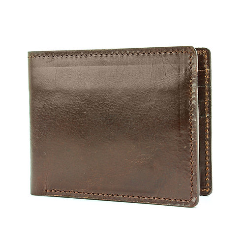 High Shine Leather Wallet Front View