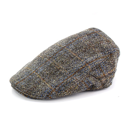 Carloway Harris Tweed Cap Side View