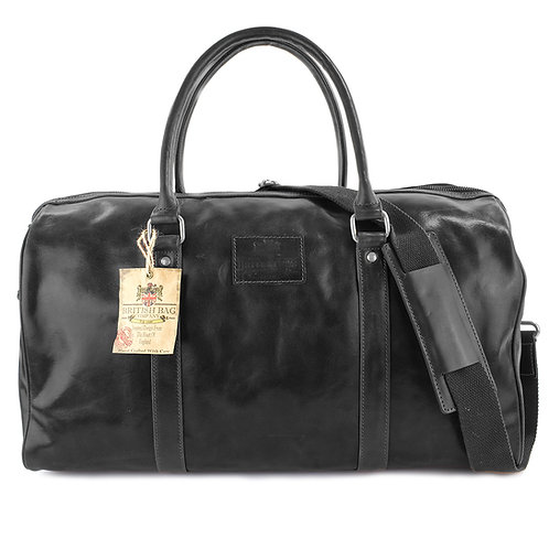 Oakham Black Travel Holdall Front View