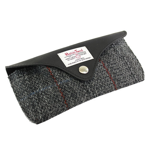 Berneray Harris Tweed Glasses Case Front View