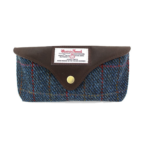 Allasdale Harris Tweed Glasses Case Front View
