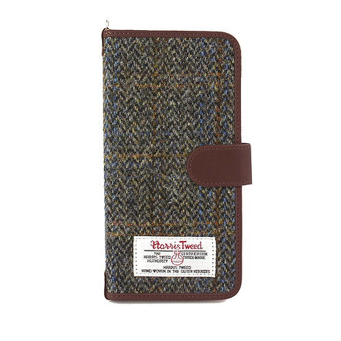 Carloway Harris Tweed Large Universal Phone Case Front View