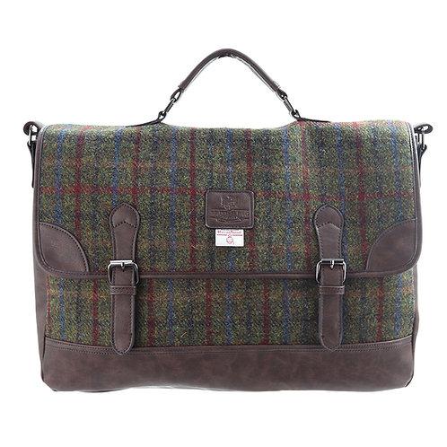 Breanais Harris Tweed PU Briefcase