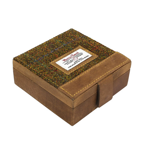 Stornoway Harris Tweed Trinket Box Front View
