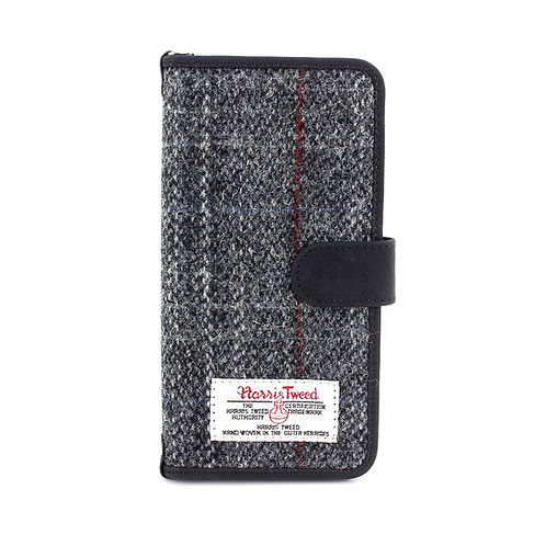 Berneray Harris Tweed Large Universal Phone Case Front View
