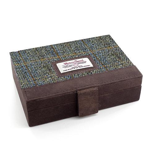 Carloway Harris Tweed Ladies Jewellery Box Front View