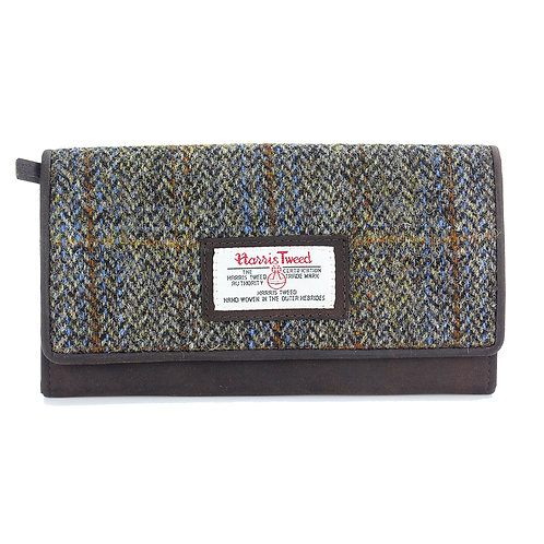 Carloway Harris Tweed Ladies Large Purse Front View