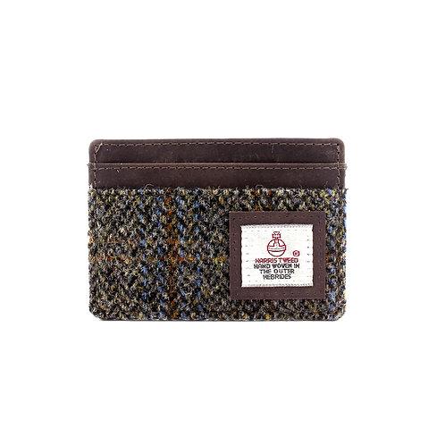 Carloway Harris Tweed Card Holder Front View