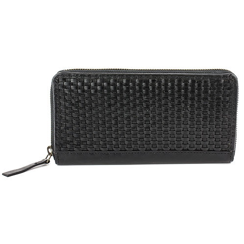 Glossy Lattice Weave Purse Front View