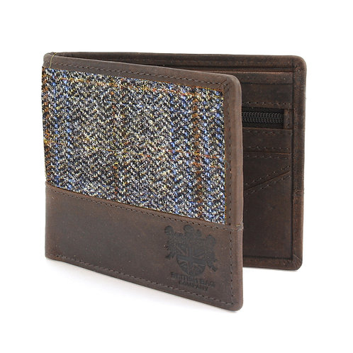 Carloway Harris Tweed Wallet Front View