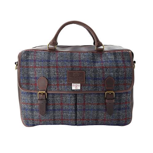 Finsbay Harris Tweed Leather Briefcase