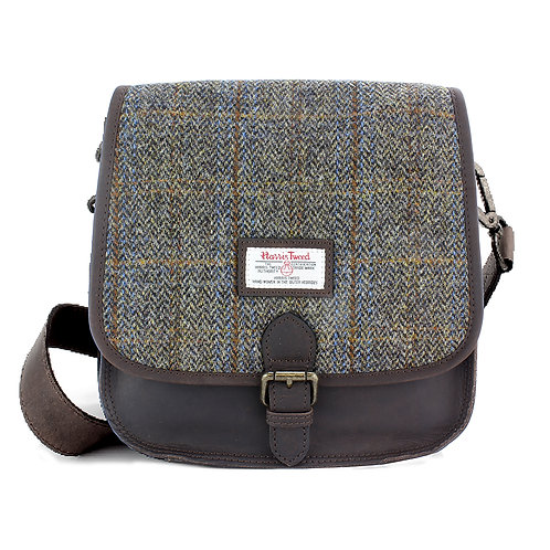 Carloway Harris Tweed Ladies Saddle Bag Front View