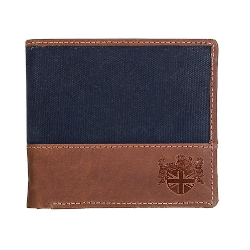 Waxed Canvas Wallet Front View