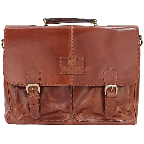 The Oakham Tan Leather Briefcase