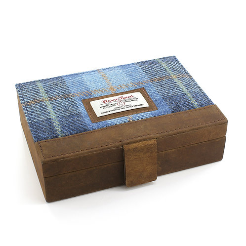 Castlebay Harris Tweed Ladies Jewellery Box Front View