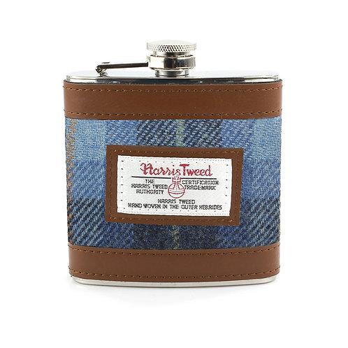 Castlebay Harris Tweed Ladies Hip Flask Front View