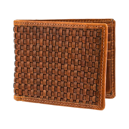 Glossy Lattice Weave Wallet Front View