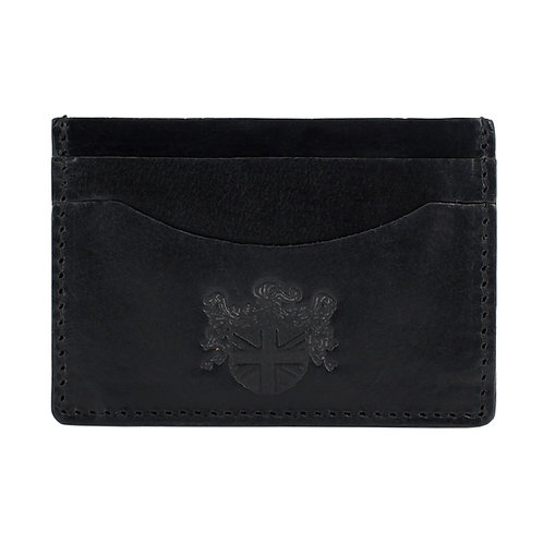 High Shine Leather Card Holder Front View