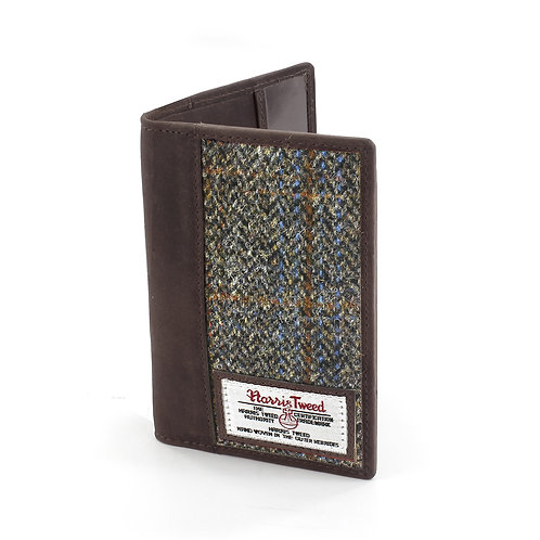 Carloway Harris Tweed Passport Holder Front View