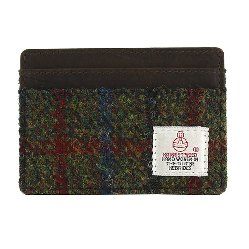Breanais Harris Tweed Card Holder Front View