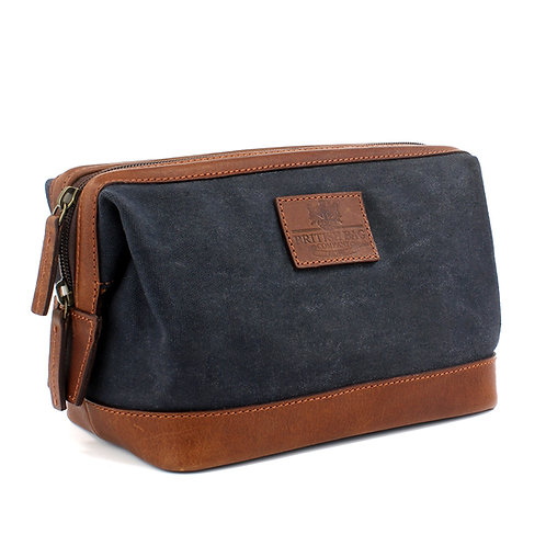 Waxed Canvas Washbag Front View