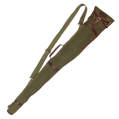 Waxed Canvas Gun Case Front View