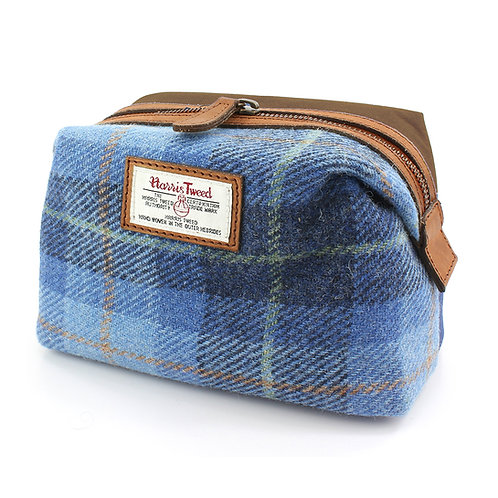 Castlebay Harris Tweed Ladies Cosmetic Bag Front View
